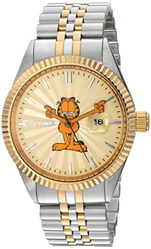 Invicta 24874 Character - Garfield Orologio da Uomo acciaio inossidabile Quarzo quadrante oro