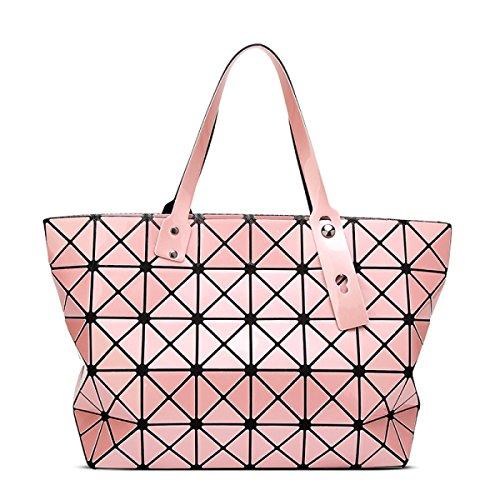2017 Neu Falzen Geometrie Lingge Handtaschen Schulter Handtasche Pink
