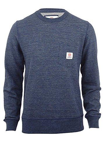 Franklin-Marshall-Fleece-Round-Neck-Pocket-Blue-Melange