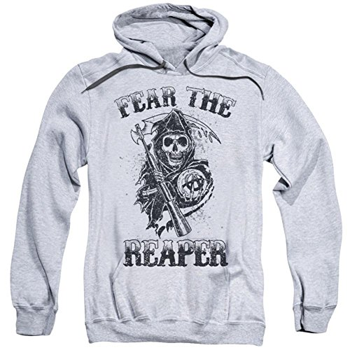 Sons of Anarchy Fear The Reaper Herren Kapuzenpullover Athletic Heather MD -