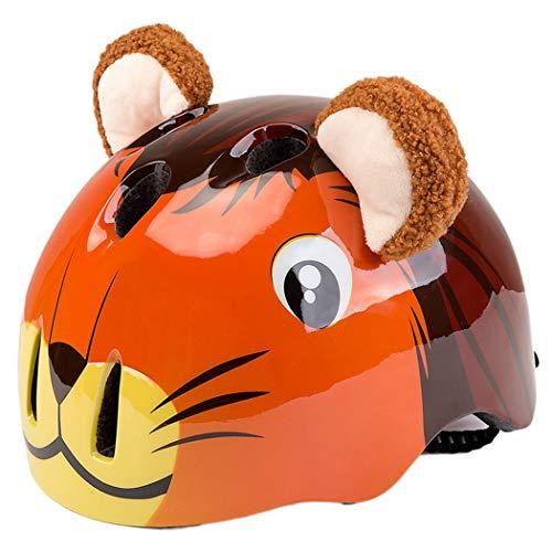 Fansport Casco Infantil Bear Lion Design Casco De Ciclismo Casco De Bicicleta para Deporte