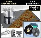 Wenko 3085620500 Diamond Clean 2 en 1-100g, Compositionchimique, 11 x 6 x 11 cm, Noir
