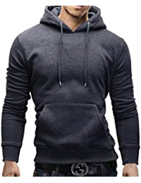 MERISH Sweater à Capuche Hommes Slim Fit Pull Modell 234