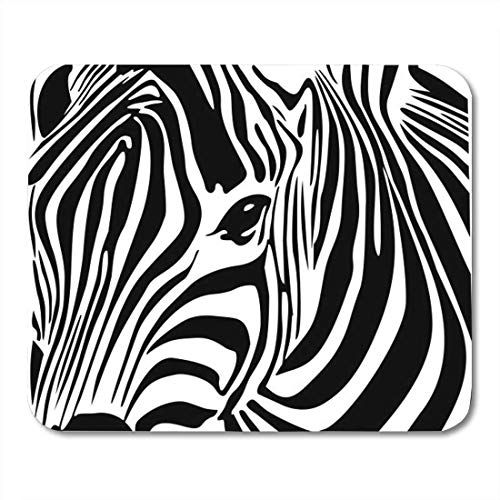 Deglogse Gaming-Mauspad-Matte, Black Africa Zebra Animal Wild West Wildlife Mouse Pad Wild One Black Zebra