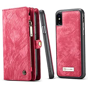 584b6dccb7352 BELK iPhone X Detachable Wallet Case with Slim Luxury Leather Back ...