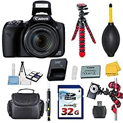Canon Powershot SX530 HS 16. 0 MP Digital Camera with 50x Optical Zoom and 1080p Full HD Video Bundle with Commander 32GB High Speed Memory Card + Card Reader + Deluxe Case + Commander Starter Kit