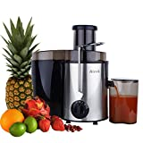 Juicers Best Deals - Aicok Juicer Professional Whole Fruit Juicer 400W Power Centrifugal Juice Extractor with Juice Jug and Cleaning Brush, Stainless Steel