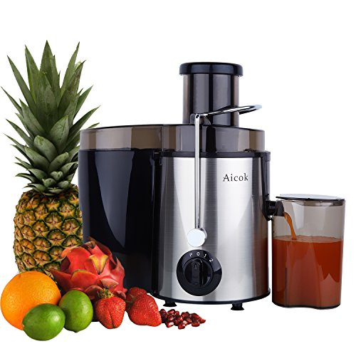 Aicok Juicer, Professional Juice Maker Centrifugal Juice Extractor with Juice Jug and Cleaning Brush, Stainless Steel