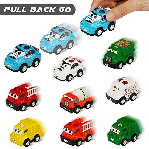 Véhicule Miniature Camion 9 Pcs Tire Hacia Atrás el Coche de Juguetes para Niños Niñas