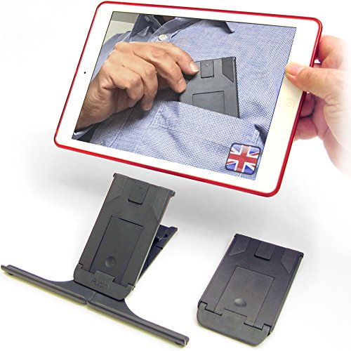 Pocket Adjustable iPad Stand. Non-Slip Stable Support For All iPads, Tablets, iPhones, Cookery Books & More. Travel, Desktop, Office, Kitchen & in Bed!