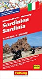 Motomap Sardinien 1 : 275 000 / 1 : 650 000: Die schönsten Strecken mit Sehenswürdigkeiten und Herbergen. GPS-Daten: Gratis Download der Motorradtouren (Hallwag Freizeitkarten) - Hallwag