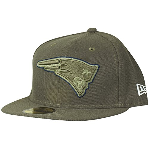 Service To Salute (New Era 59Fifty Cap - Salute to Service New England Patriots oliv , Gr. 7 7/8 - (62,5cm)