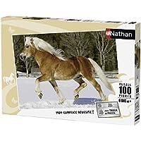 Nathan–Puzzle–Trot 86733im Schnee–100Stück