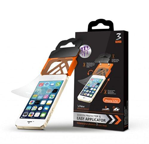 High Value Iphone 5 / 5S 3pcs Vorderseite HD Anti-Scratch Crystal Clear Displayschutzfolie mit Easy-Applikator für iphone 5 / 5S