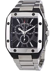 Cerruti 1881 Herren-Armbanduhr XL Analog Quarz Edelstahl beschichtet CRC003G221G