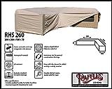 RHS260 Loungemöbel Abdeckhaube für L-Form, passt am besten am Set von max. 255 x 255 cm. Abdeckung für Lounge Eckset, Schutzhülle in L-Form für Lounge Sets, Schutzplane, Regenschutz Ecklounge