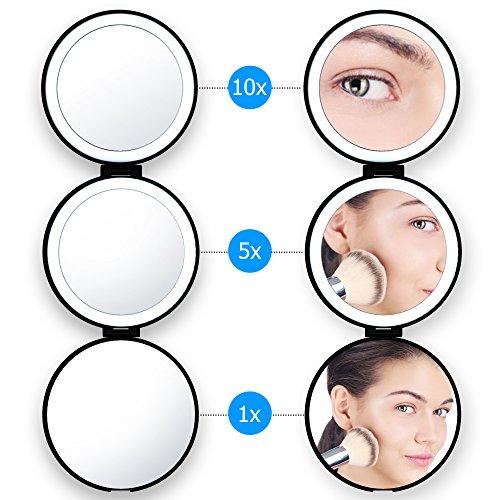 Beweglicher Led Kosmetikspiegel Lightswim natürliches Tageslicht belichtete LED bilden Spiegel mit...