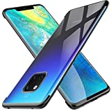 Kugi Funda Huawei Mate 20 Pro,Huawei Mate 20 Pro TPU Transparente Slim Silicona Case Cover [Anti-arañazos] para Huawei Mate 20 Pro(Negro)