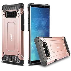 Galaxy Note 8 Funda, J&D [Armadura Delgada] [Doble Capa] [Protección Pesada] Híbrida Resistente Funda Protectora y Robusta para Samsung Galaxy Note 8 - Rose Oro