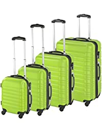 TecTake Set 4 Piezas Maletas ABS Juego de Maletas de Viaje Trolley Maleta Dura