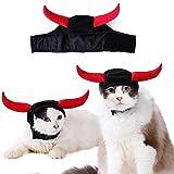 Glodenbridge Disfraces para Mascotas, Disfraz de Halloween, Gato, Disfraz, diversión para Mascota (Cuello: 19 – 26 cm)
