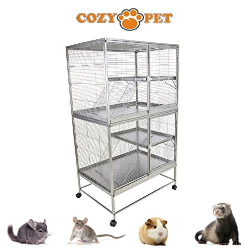 Cozy Pet Rodent Cage for Rat, Ferret, Chinchilla, Degu or other Small Pets, Large Rodent Cage RC03 (We do not ship to Northern Ireland, Scottish Highlands & Islands, Channel Islands, IOM or IOW.)