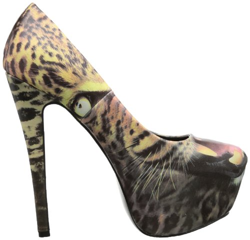Iron Fist - Dont Pussy Foot Platform, Scarpe chiuse Donna Marrone (Braun (leopard))