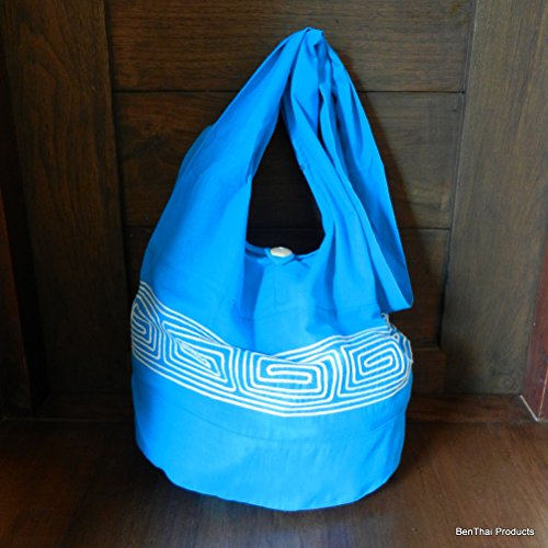 BenThai Products, Borsa a tracolla donna rosso Red ND1 large Light Blue ND8