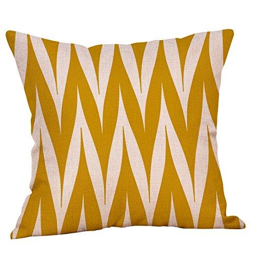 Xmiral Kissenbezug Pillowcase Gelb Geometrisches Muster Kissenbezug Sitz Dekorativ(B)