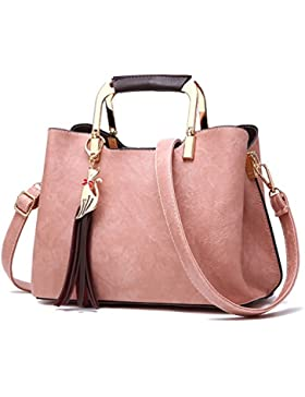 Ghlee Europa Style Soft Leder Umhängetasche Umhängetasche Dame Top Griff Tote Handtasche für Mädchen mit schönen...