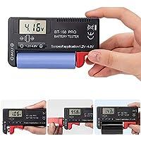 Probador de Batería Probador De Pilas Digital Universal Comprobador de Capacidad de la Batería para Pilas AA AAA C D 9V 1.5V Pilas de Botón11.1 * 6.05 * 2.6cm (BT-168 Pro)