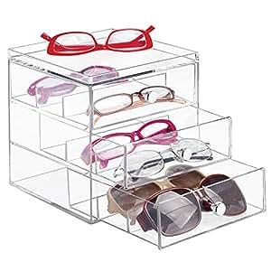 interdesign drawers brillenbox stapelbare aufbewahrungsbox f r brillen lesebrillen. Black Bedroom Furniture Sets. Home Design Ideas