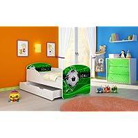 CHILDREN TODDLER KIDS BED + FREE MATTRESS ACMA I WHITE ... 140x70 160x80 180x80 40 Designs (14 GOAL, 140x70 cm + drawer)