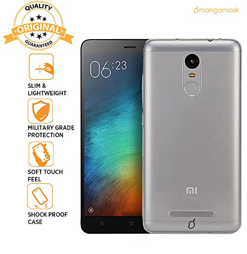 MangoMask Xiaomi Redmi Note 3 Back Case Cover Crystal Series Clear Transparent TPU Case  available at amazon for Rs.99