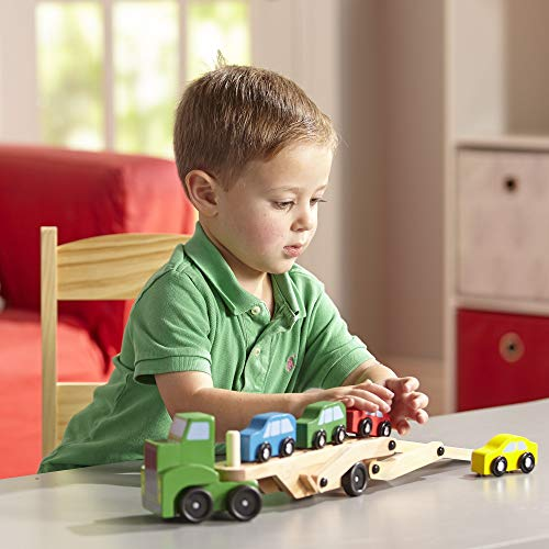 Melissa&Doug 14096 Cars Trucks, Trains & Vehicles-Wooden Vehicles, Assorted Colours Lime Green