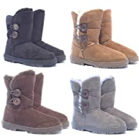 "Ella Shoes ""Rita Faux Fur Warm Winter Boots UK Sizes 3-9"