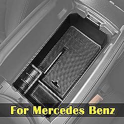 WYYYFA Für Mercedes Benz C GLC Klasse W205 C180 C200 C260 C300 GLC200 GLC260 GLC300, Auto Mittelkonsole Handschuhfach Armlehne Aufbewahrungsbox