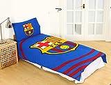 Juego de funda de edredón y almohada para cama individual oficial del FC Barcelona 'Pulse'