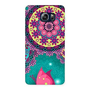 Vintage Round Pattern Multicolor Back Case Cover for Galaxy Note 5