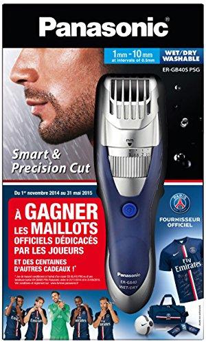 Panasonic Haarschneidemaschine, ergonomisch, verschiedene Positionen einstellbar, silberfarben, Paris Saint-Germain (offizieller Ausstatter)