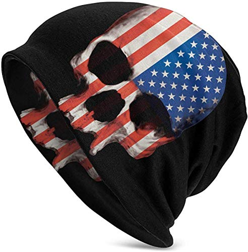 anemone store USA Skull Flag Mens Slouchy Beanie Hut Thin Baggy für Sommer Winter Unisex