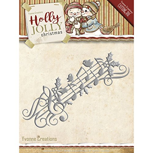 Finden ES Trading Yvonne Creations Holly Jolly sterben Set, Mehrfarbig, 9,9 x 60 cm x 0,12 cm
