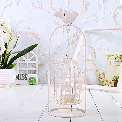 Lx.AZ.Kx Aves Integral Lap Top colgar las cadenas de hierro en forma de jaula, románticas velas viento ligero Continental de decoración del hogar , adornos