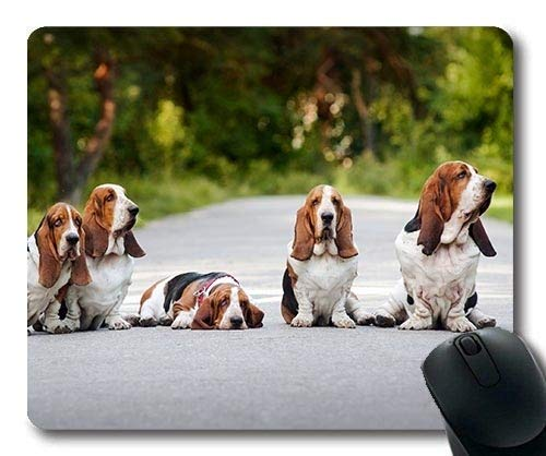 Yanteng Alfombrilla de ratón para Juegos, Perro de Caza Bulldog inglés, Costura...