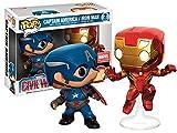 Funko - Figurine Captain America - Civil War - Pack Captain America et Iron Man Exclu Pop 10cm - 3700936108135