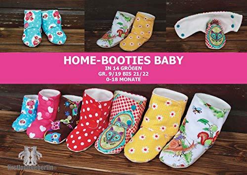 pretty nice b04c1 54d21 Home-Booties Baby selber nähen mit Schnittmuster für Gr. 9 ...
