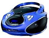 HYUNDAI CD Radio mit USB SD-Card Wiedergabe CD / MP3 Player e USB Tragbares Programmierbares Stereo Radio AUX IN Kopfhörereingang Farbwahl (Blau)
