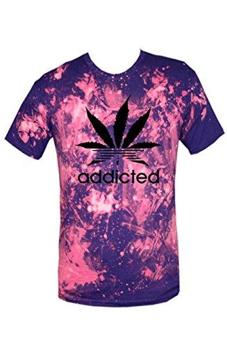 TRVPPY Batik Herren T-Shirt Shirt mit vielen verschiedenen Motiven, Gr. XS-XXL Addicted-Schwarz