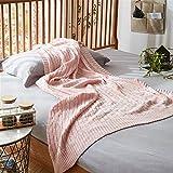 NQCDSJ Wohn- & Kuscheldecken Sommer dünne Abschnitt Baumwolle Dicke Linie Stricken Decke Sofa dekorative Decke Büro Mittagspause Klimaanlage Decke, 120cm * 180cm warm