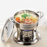 wa8a Stainless Steel Hotpot Set Chafing Dish Alcohol Stove Heater Buffet Server Food Tray Warmer